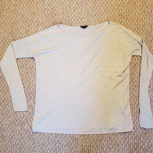 Theory ice blue long sleeve sweater
